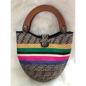 Handbags - Brown and colors handmade bag.